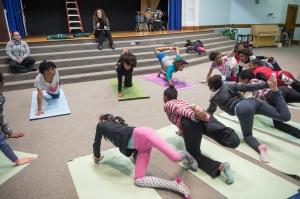 Marcelle Haddix Teaching Yoga at Dark Girls After School Project Danforth Middle School